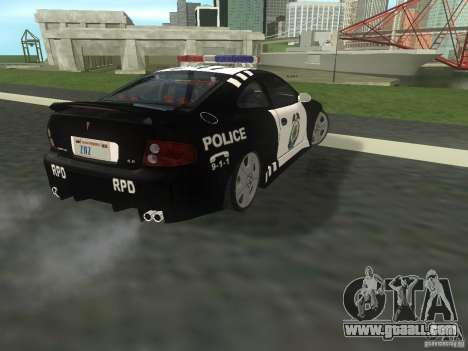 Pontiac GTO Police for GTA San Andreas back left view