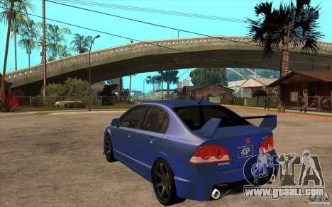 Honda Civic Mugen v1 for GTA San Andreas back left view