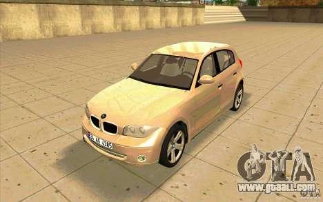 BMW 118i for GTA San Andreas