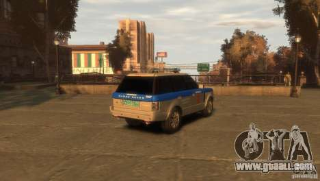 Land Rover Range Rover Police for GTA 4 back left view