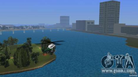 VCPD Chopper for GTA Vice City left view