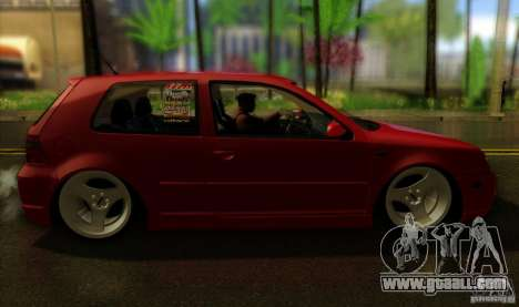 Volkswagen Golf Street for GTA San Andreas back left view
