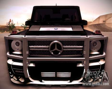 Mercedes-Benz G65 AMG 2013 Hamann for GTA San Andreas back view