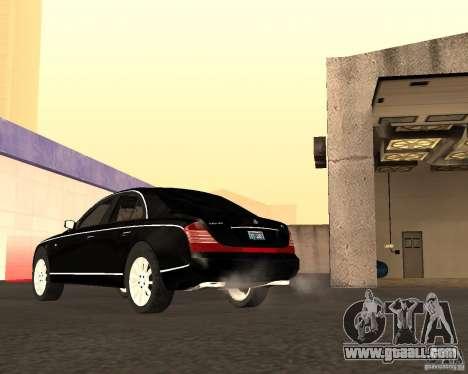 Maybach 57S for GTA San Andreas side view