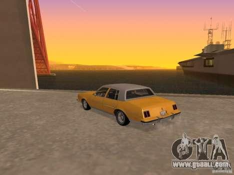 Oldsmobile Cutlass v2 1985 for GTA San Andreas left view