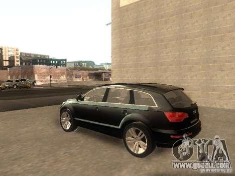 Audi Q7 TDI Stock for GTA San Andreas back left view