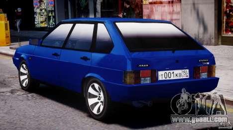 Vaz-21093i for GTA 4 bottom view