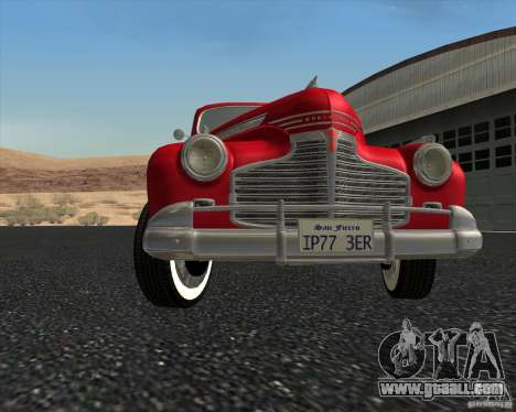 Chevrolet Special DeLuxe 1941 for GTA San Andreas upper view