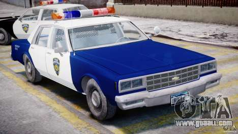 Chevrolet Impala Police 1983 for GTA 4 inner view