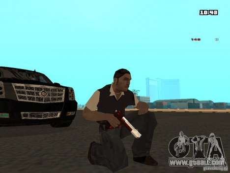 White Red Gun for GTA San Andreas second screenshot