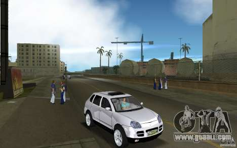 Porsche Cayenne for GTA Vice City back view