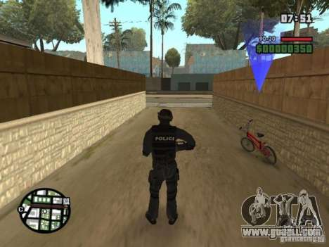 Commando of the SWAT 4 for GTA San Andreas second screenshot