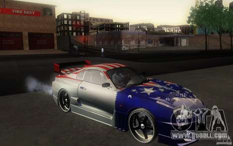 Toyota Supra Chargespeed for GTA San Andreas back left view