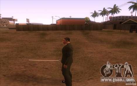 Katana for GTA San Andreas third screenshot