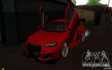 Mitsubishi Lancer EVO X drift Tune for GTA San Andreas inner view