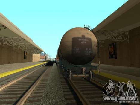 Tank No. 68T 53911384 for GTA San Andreas back left view