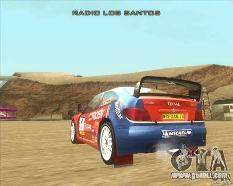 Citroen Xsara WRC for GTA San Andreas back left view