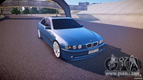 BMW 530I E39 e63 white wheels for GTA 4 inner view