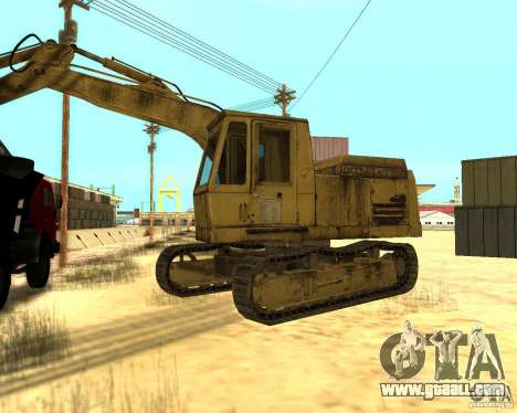 Excavator for GTA San Andreas left view