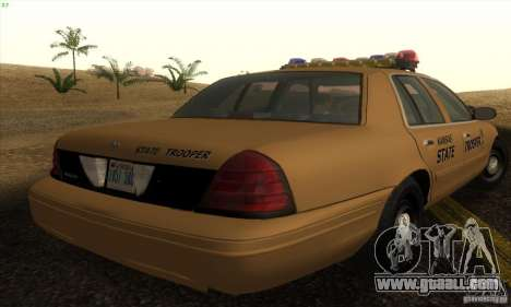 Ford Crown Victoria Kansas Police for GTA San Andreas left view
