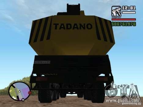 KrAZ-250 MKAT-40 for GTA San Andreas inner view