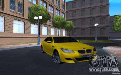 BMW M5 Gold Edition for GTA San Andreas back left view
