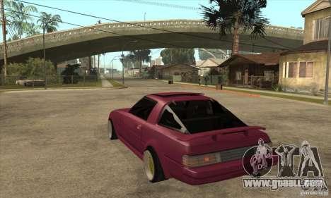 Mazda RX7 SA22C for GTA San Andreas back left view