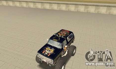 Chevrolet Blazer K5 Monster Skin 2 for GTA San Andreas left view
