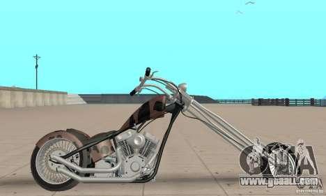 Desperado Chopper for GTA San Andreas back left view