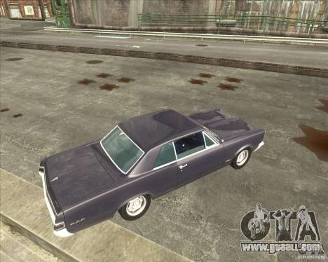 Pontiac GTO 1965 for GTA San Andreas back view