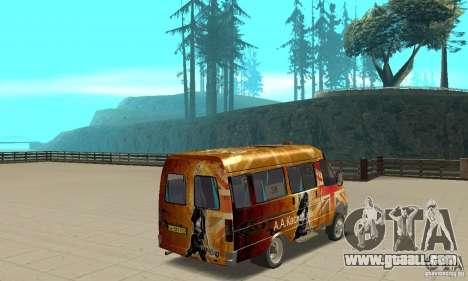 Gazelle kulnev obezbašennaâ for GTA San Andreas left view