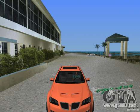 Pontiac G8 GXP for GTA Vice City right view
