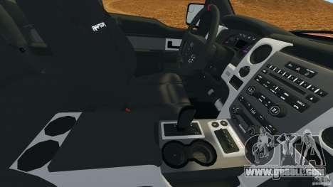 Ford F-150 SVT Raptor for GTA 4 bottom view