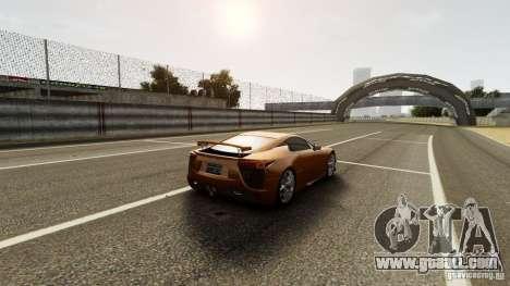 Lexus LF-A for GTA 4 inner view