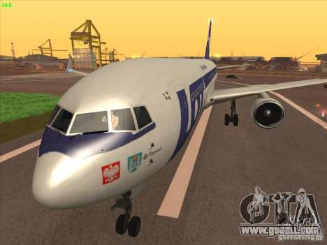 Boeing 767-300 LOT Polish Airlines for GTA San Andreas back left view