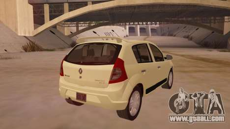 Renault Sandero for GTA San Andreas right view