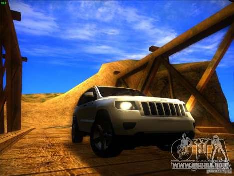 Jeep Grand Cherokee 2012 v2.0 for GTA San Andreas right view