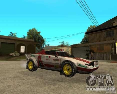 Lancia Stratos for GTA San Andreas right view