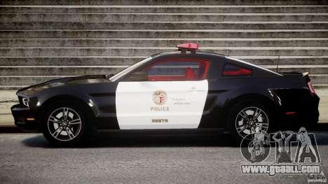 Ford Mustang V6 2010 Police v1.0 for GTA 4 left view