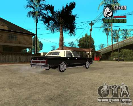 Lincoln Town Car 1986 for GTA San Andreas right view