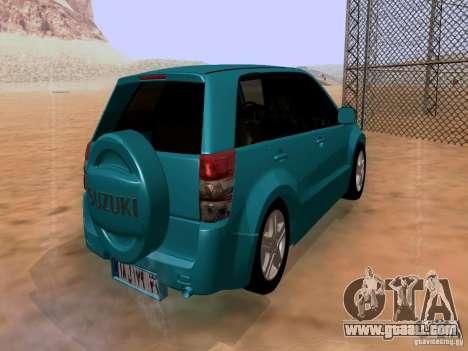 Suzuki Grand Vitara for GTA San Andreas back left view