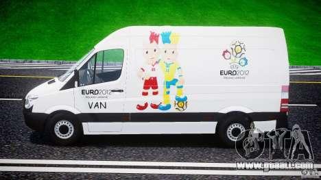 Mercedes-Benz Sprinter Euro 2012 for GTA 4 inner view