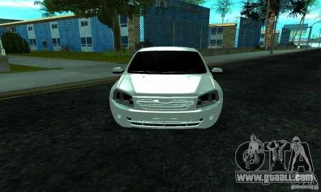 Lada 2190 Granta for GTA San Andreas inner view