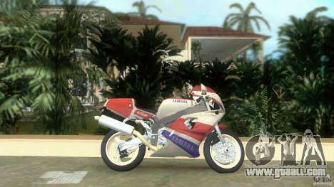 Yamaha FZR 750 white lighted for GTA Vice City left view