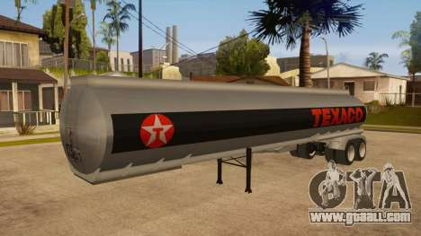 Semitrailer tank for GTA San Andreas back view