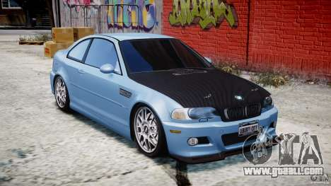 BMW M3 E46 Tuning 2001 for GTA 4 inner view