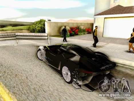 Citroen GT Gymkhana for GTA San Andreas left view