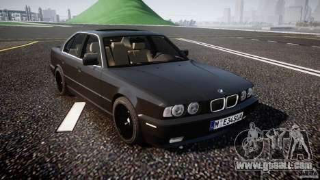 BMW 5 Series E34 540i 1994 v3.0 for GTA 4 inner view