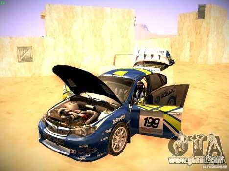 Subaru impreza Tarmac Rally for GTA San Andreas side view