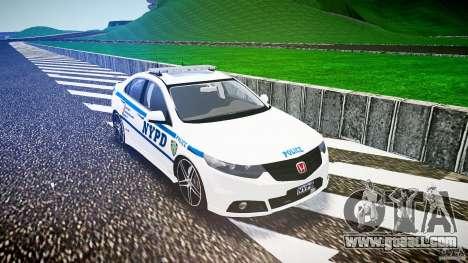 Honda Accord Type R NYPD (City Patrol 2322) ELS for GTA 4